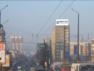 Надпокривна конструкция с изглед южно към входа на града от магистрала Тракия