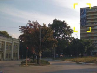 Мегаборд с изглед към натовареното кръстовище до Историческия Музей